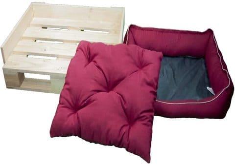 cama para perro de palets